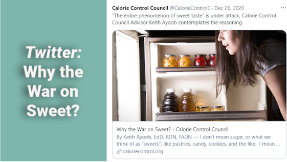 Social Media: Calorie Control Council, Association for Dressings and Sauces and Shop Association